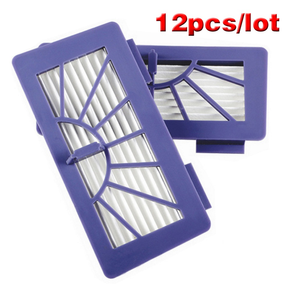 12pcs/lot Free shipping New Neato Filter Replacement Pack For XV-11 XV-12 XV-14 XV-15 XV-21 For Allergy Automatic Vacuum Cleaner neato spiral blade brush 6 piece brush blade and 1piece squeegee replacement pack xv 11 xv 12 xv 14 xv 15 xv 21