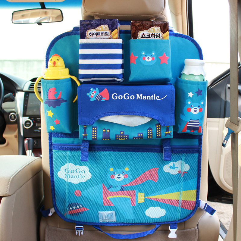 2018 New Cartoon Car Seat Back Hanging Bag Organizer Foldable Travel Accessories for Baby Child Multifunction Pocket Storage Box in Stowing Tidying from Automobiles Motorcycles