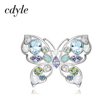 Cdyle Crystals from Swarovski Brooches Women Austrian Rhinestone Fashion  Jewelry Elegant Luxury Butterfly Shaped Trendy Chic a639f9cb04c3