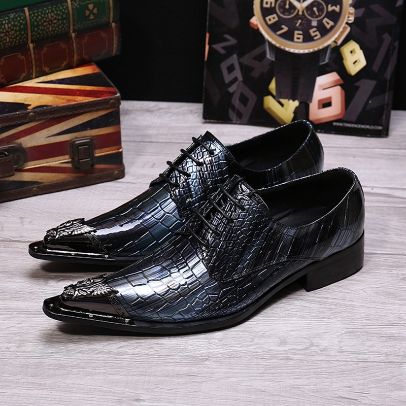 italian shoes men leather alligator shoes for menpatent leather dress shoes party wedding footwear sping summer oxford
