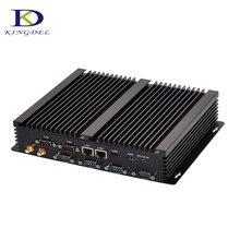 Скидка безвентиляторный мини-ПК core i7 5550U с 6 * RS232 Dual LAN двойной hdmi рабочего Промышленный компьютер i5 4200U i3 4010U 8 г Оперативная память 256 г