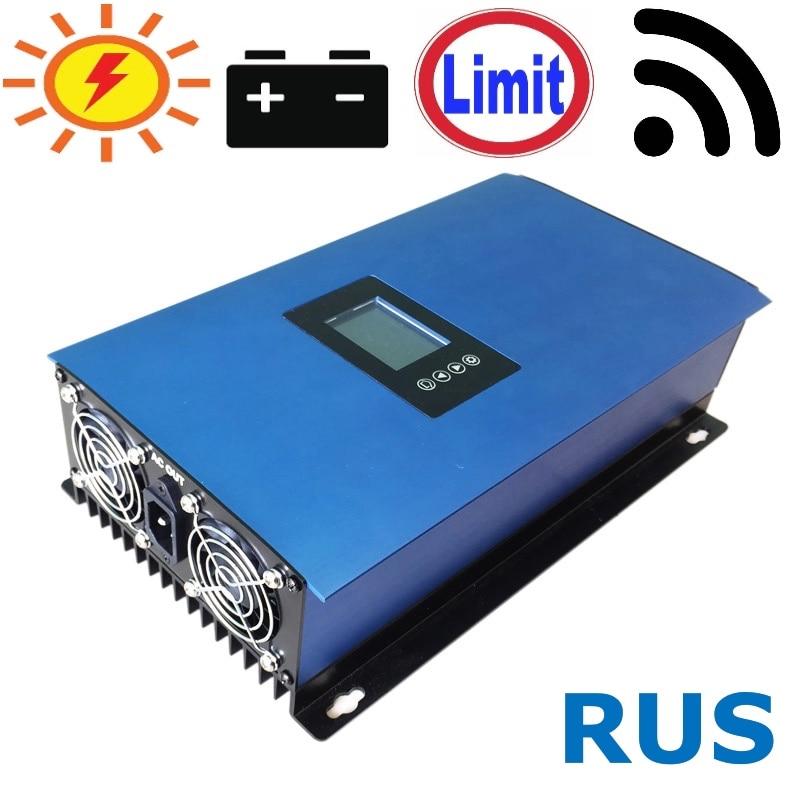 1000W Solar Grid Tie Inverter with Limiter for Solar Panels/Battery  DC 22-65V/45-90V AC 110V 120V 220V 230V 240V