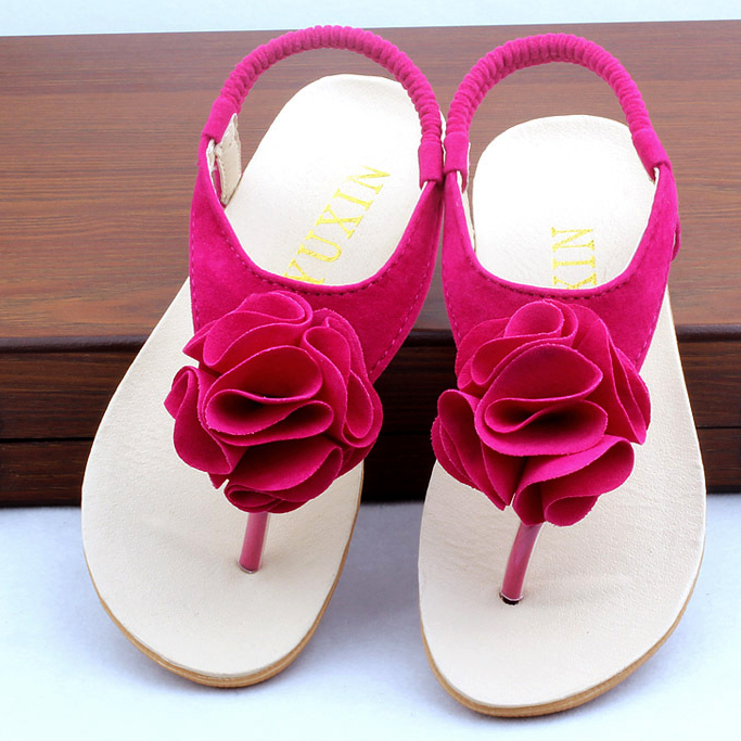 3f5eaeeadc1f Girls Roman Sandals Children PU Leather Beach Shoes 2016 Summer Herringbone  Kids Sweet Princess Flowers Sandals For Girl 3 Color-in Sandals from Mother  ...