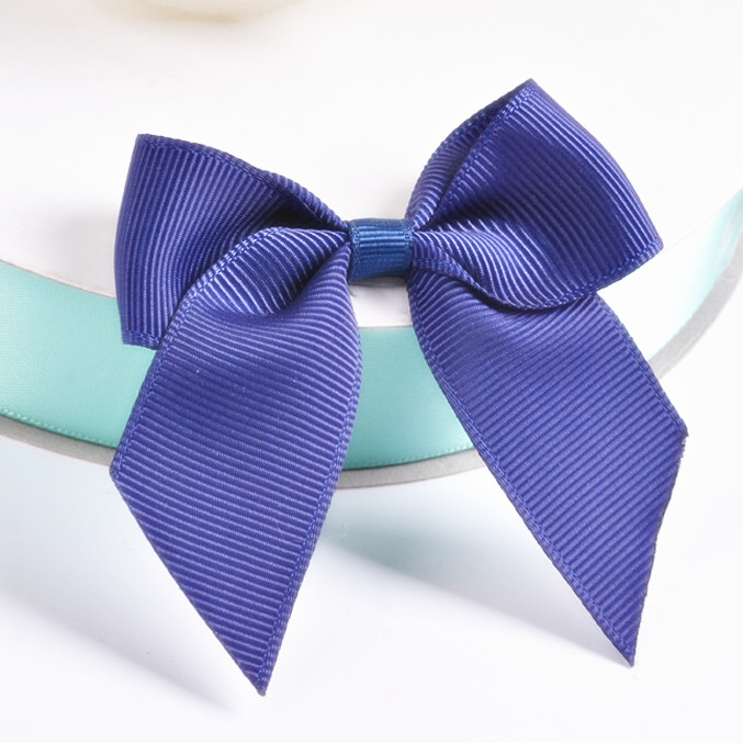 Free Shipping 500pcs lot Navy Pre Tied Ribbon Bow Bowknot Twist Ties for Candy Gift Packing