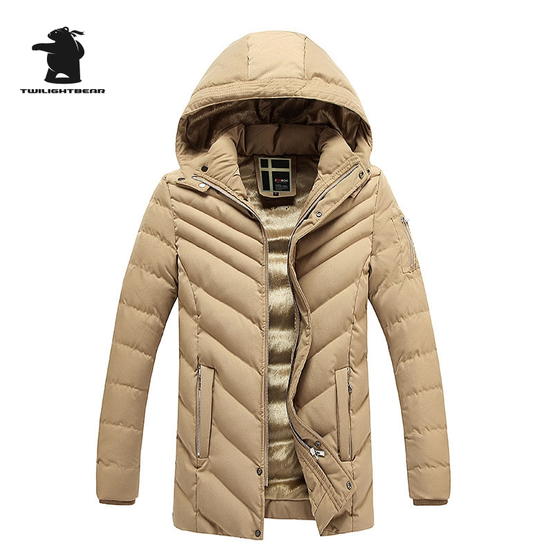 2017 New Winter Men Jacket Designer Fashion Hooded Plus Size Fleece Thicken Casual Jacket Coat For Men Overcoat L~3XL D8F129882 2017 new men s uniform fleece parkas fashion embroidery hood plus size thicked air pilot jacket coat for men pull homme d20f9935