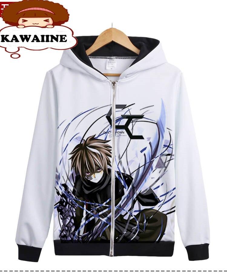 So COOL Guilty Crown GC OUMA SHU Oversized Japan Anime Hoodie White Mens Sweatshirts Hoodies 3D