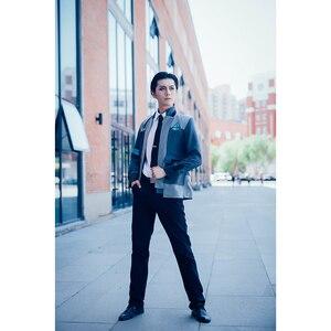 Image 3 - ROLECOS oyun Detroit olmak İnsan Cosplay kostümleri Connor RK800 takım elbise üniforma ceket gömlek kravat erkekler için parti Cosplay elbise