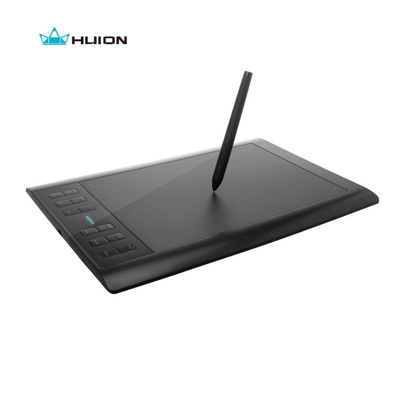 Huion 1060 PRO + 10 цифровой графический планшеты Подпись планшеты Professional анимация чертёжные доски Grafica Tableta с 4G памяти