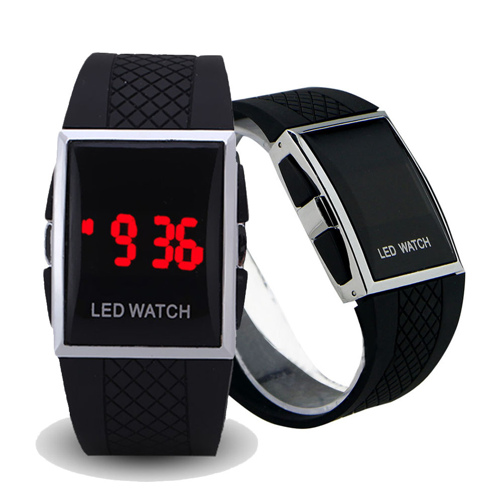 Fashion Men LED Digital Watch Date Sports Quartz Waterproof Luxury Wrist Watch(China)