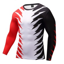 Fitness T shirt Men Compression shirts long sleeve Tight tee shirts Quick Dry Workout Clothes Men's Base Shirt 2017 New