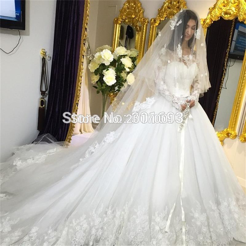 Compare prices on royal ball gowns online shopping buy for Long veil wedding dresses