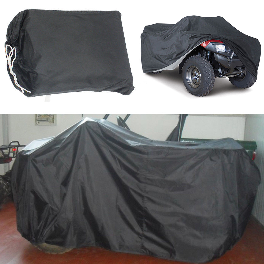 Zwart Xl Universele Atv Cover Terreinwagen Strand Motorfiets Protector Waterdicht Anti-uv Stofdicht Quad Bike Cover