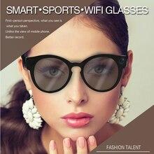 1080 P HD 155 градусов широкий угол Smart видео очки встроенный Поддержка wi-fi TF карты для IOS android мобильного телефона Live интернет-трансляция