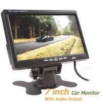 7 Color TFT LCD Audio Output Car Rear View Monitor 7 Inch 234 X 480 Car
