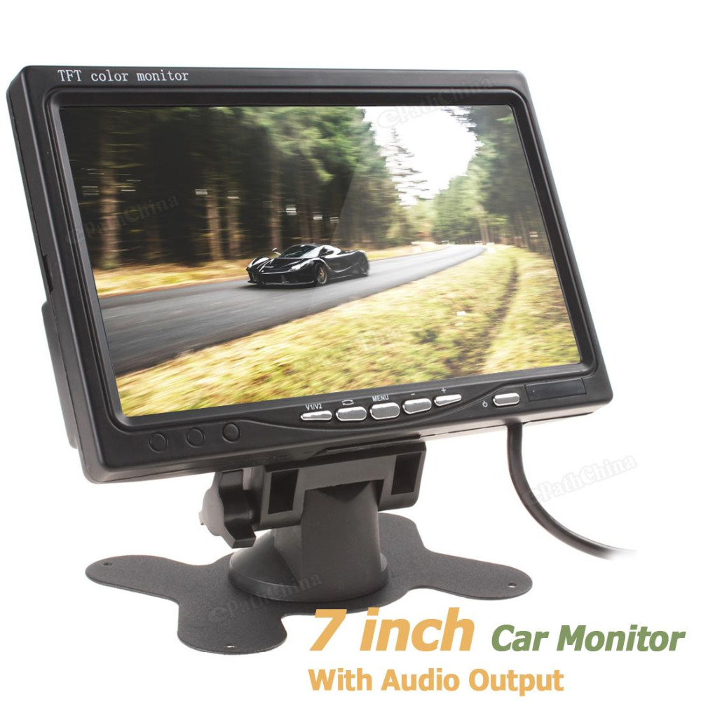 7'' Color TFT LCD Audio Output Car Rear View Monitor 7 inch 800 x 480 Car Rearview Reverse Parking Monitor 2 Video Input