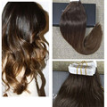 Full Shine Balayage Hair Color Dark Brown Ombre Two Tone Dip Dye Tape in Hair Extensions Human Hair Ombre Brazilian Hair