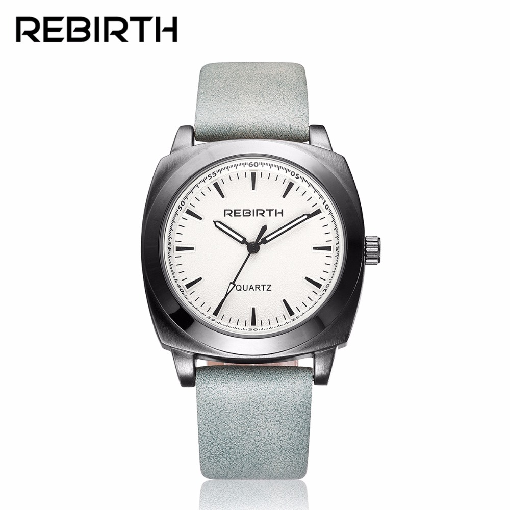 2017 New Fashion Men Watches REBIRTH Luxury Brand Genuine Leather Quartz Male Wristwatches Waterproof Casual Clock montre homme куплю насос форсунку фольксваген пассат 2006