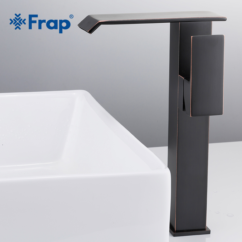 Frap New Bathroom Basin Faucet Deck Mounted Waterfall Hot and Cold Water Sink Tap Mixer Single Handle Black Tap Mixer Y10136Frap New Bathroom Basin Faucet Deck Mounted Waterfall Hot and Cold Water Sink Tap Mixer Single Handle Black Tap Mixer Y10136