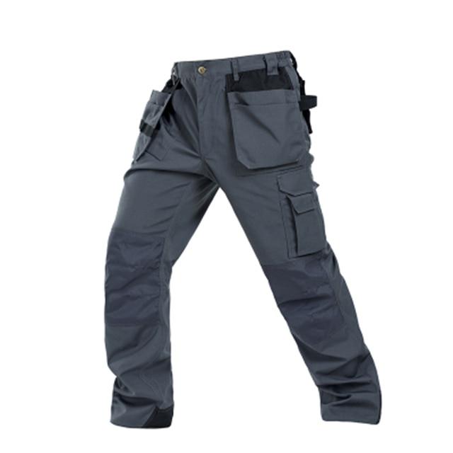 Men working pants multi-pockets wear-resistant worker mechanic cargo pants work wear trousers high quality machine repair pants 2