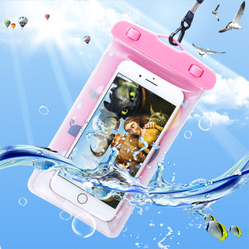 Swimming-Bag PVC Waterproof-Bag Sealed Mobile-Phone Travel Animal Colorful Creative Outdoor