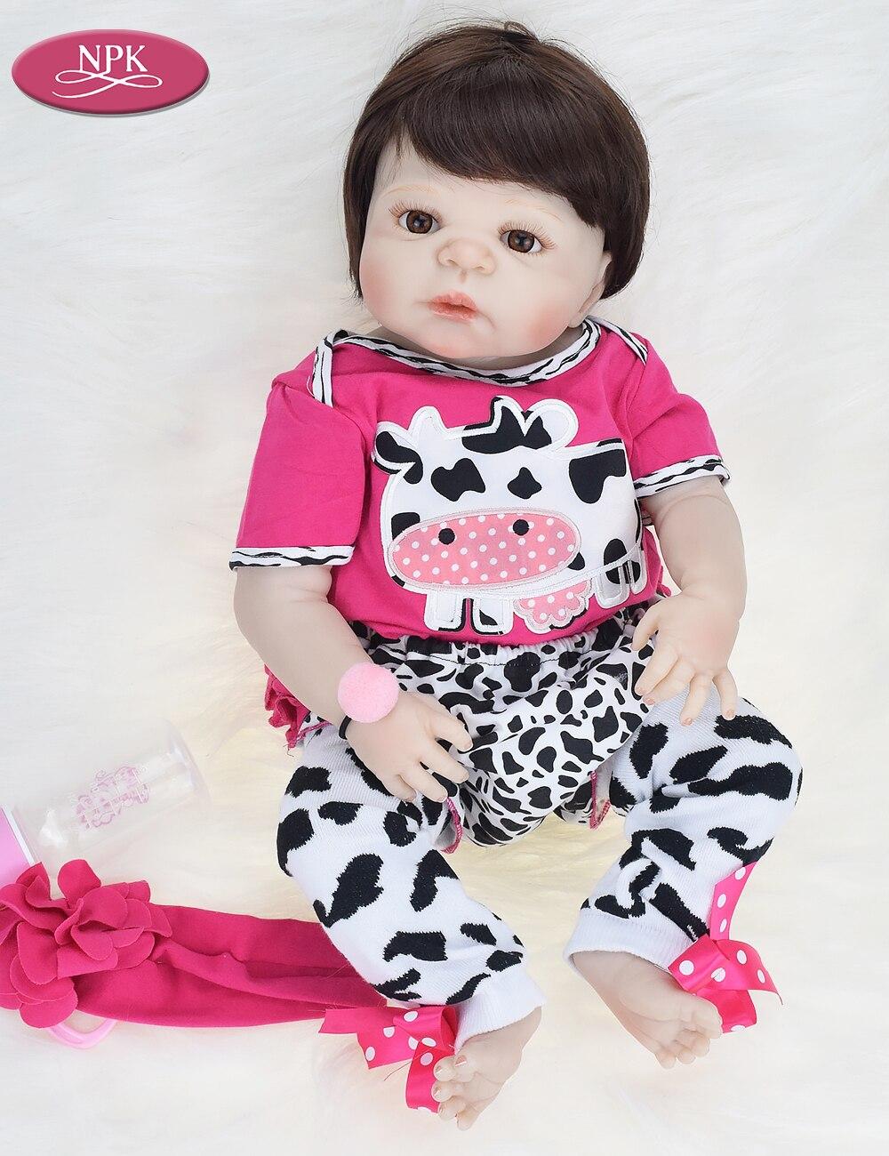 9d17b3a61 ... NPK Real 23inch Full Body Silicone Girl Bath Toys Reborn Baby DOll Toys  Lifelike Newborn Princess ...