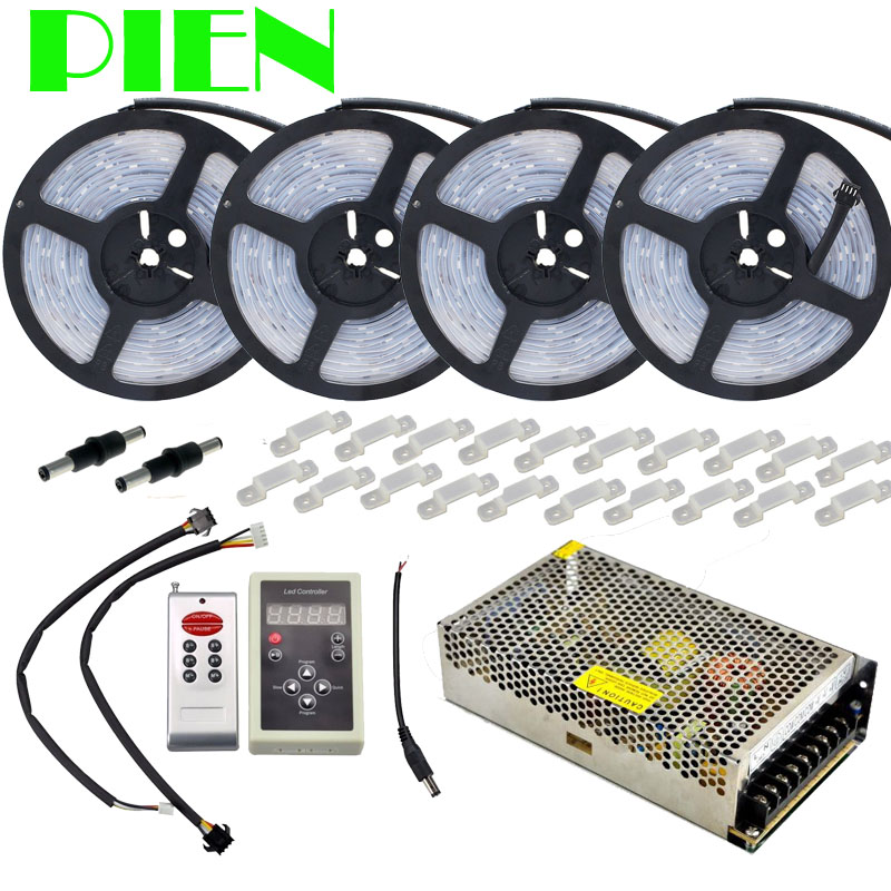 Dream color Magic LED Strip RGB 5050 20m 30m 10m 5m Waterproof IP67 133 change + IC6803 RF Controller + Power adapter Free ship 5m dc12v 5050smd 150leds ldp6803 ic magic dream color ip66 silicone waterproof flex led strip 133 programs rf remote controller
