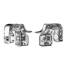 1 пара телефон игры винт фиксированный металлический съемный огонь Кнопка мини прозрачный игровой триггер Вспомогательные аксессуары Универсальный