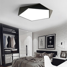 hot deal buy dimmable led ceiling lamps design creative geometry luminaria living room aisle balcony lampe plafond chambre ceiling lighting