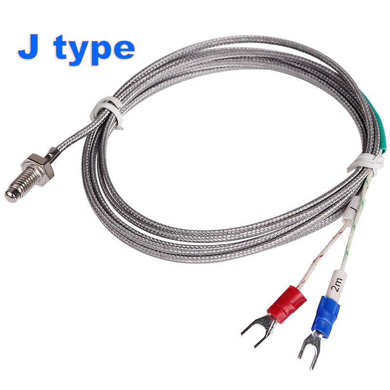 j type m6 screw probe thermocouple temperature sensor with