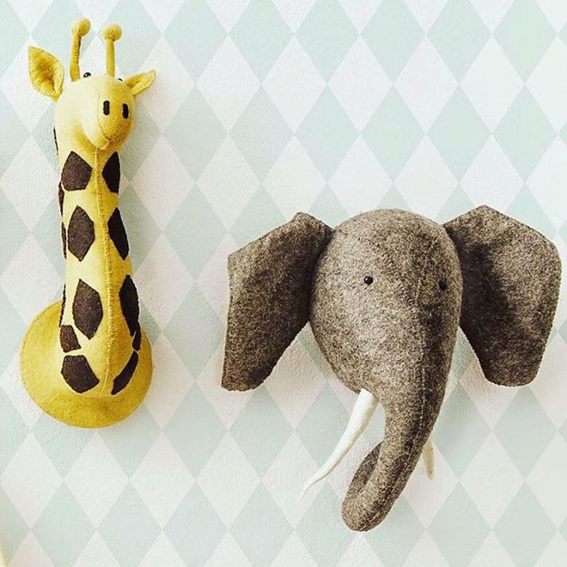Peluche tigre peluche peluche chambre décoration mur accrocher gros mignon doux jouets poupée un jouet en peluche éléphant flamant rose grenouille ours enfants