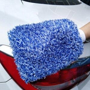 Image 1 - 1 sztuk rękawice do mycia samochodów z mikrofibry czyszczenie samochodu narzędzie szczotka do kół wielofunkcyjna pielęgnacja samochodu Detailing Brush 2019 nowych produktów