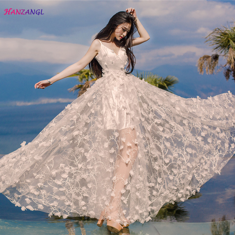 2ce0934599e Buy flower embroidered backless dress and get free shipping on  AliExpress.com