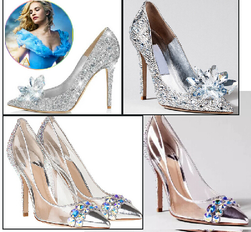 c519c4a62e4fb8 newest cinderella primiere stunning glasses shoes silver crystal wedding  pumps high heel jeweled glittering shoes