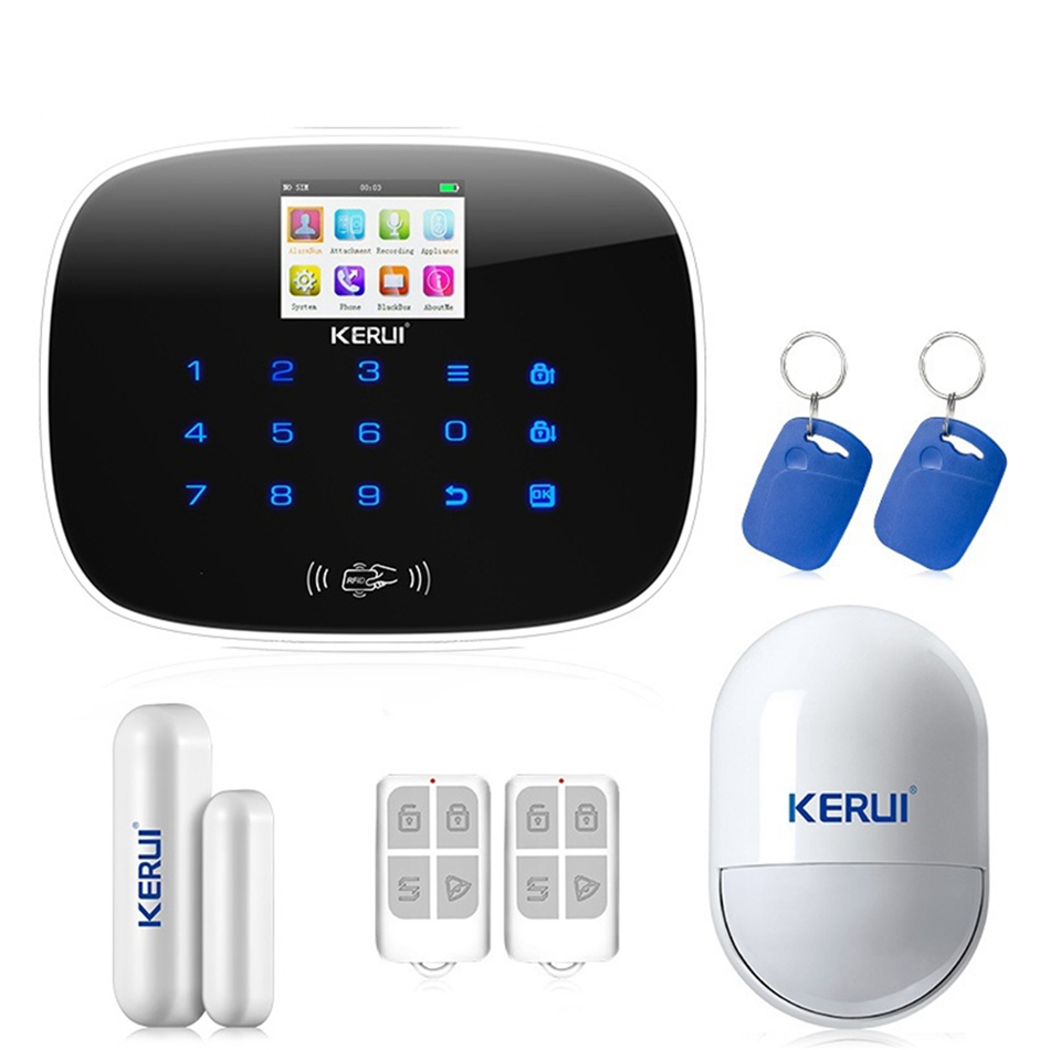 For IOS Android APP GSM Home Alarm System Door Window Sensor Pet Inmune Pet-Immune PIR Detector RFID Card and Smoke Sensor homsecur app controlled wireless gsm lcd rfid burglar alarm system with 4 pet immune pir 5 door sensor