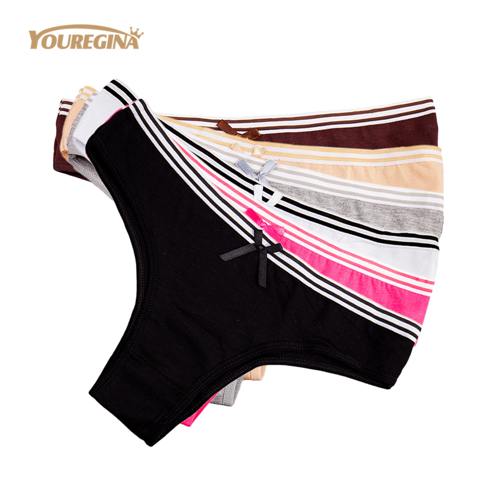 YOUREGINA Womens's Briefs Cotton Underwear Woman Cute Sexy   Panties   Lingerie for Woman Mujer Culotte Femme Knickers 6pcs/lot