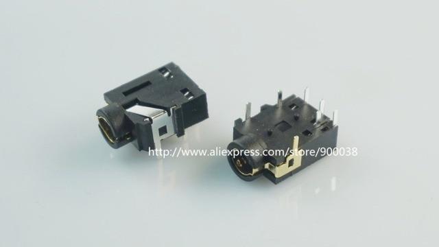 1000 stücke Telefon Jack 3,5mm 7 Pin Stereo Audio buchse für 4 pole Audio stecker Durch loch rechten Winkel 7 kontakte 4 leiter