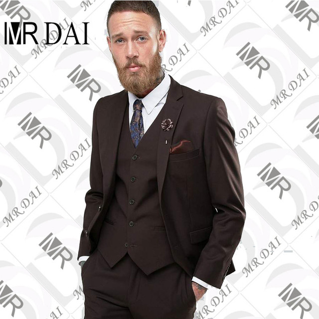 d8032b971a0 MD-049 Custom Made Beige Brown Classic Men Suit Formal Slim Fit Suits Custom  Blazer