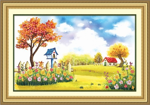 3D Flowers garden Ribbon embroidery painting sets handcraft ...