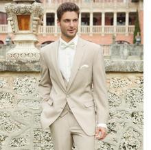 New Arrival Allure Two Buttons Groom Tuxedo Best Man Groomsman Suit Men Destination Wedding Suits Formal Suit (Jacket+Pants+Vest