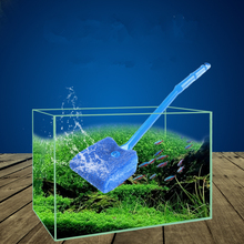 New Arrival 2017 Plastic Fish Tank Aquarium Cleaning Brush Blue & Green Double Side Sponge Plant Cleaner Tools High Quality