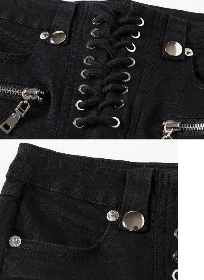 Marea Pies Pequeña Con Tridimensional Largo Cintura Slim Pantalones Las 2019 Mujeres Negro Elástico Decorativa Vaqueros Marca Frente En De Momento Un Este Lápiz La txwq6SUH