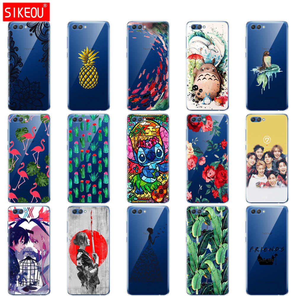 silicone case for huawei honor 10 case soft tpu back cover phone case for honor10 Case Coque Etui full 360 protective Painting