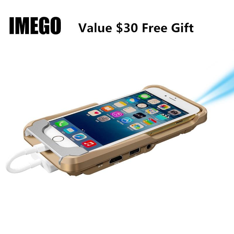 Pico Mini Proiettore Tascabile A LED DLP Cellulare 1080 P Home Cinema Pico Portable Micro HD Per iPhone X 7 8 Plus iPad Regalo i60 IOS