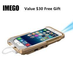 Pico Mini proyector de bolsillo LED DLP del teléfono móvil 1080 Cine en Casa Pico Micro PORTÁTIL HD para iPhone X 7 8 Plus regalo iPad i60 IOS