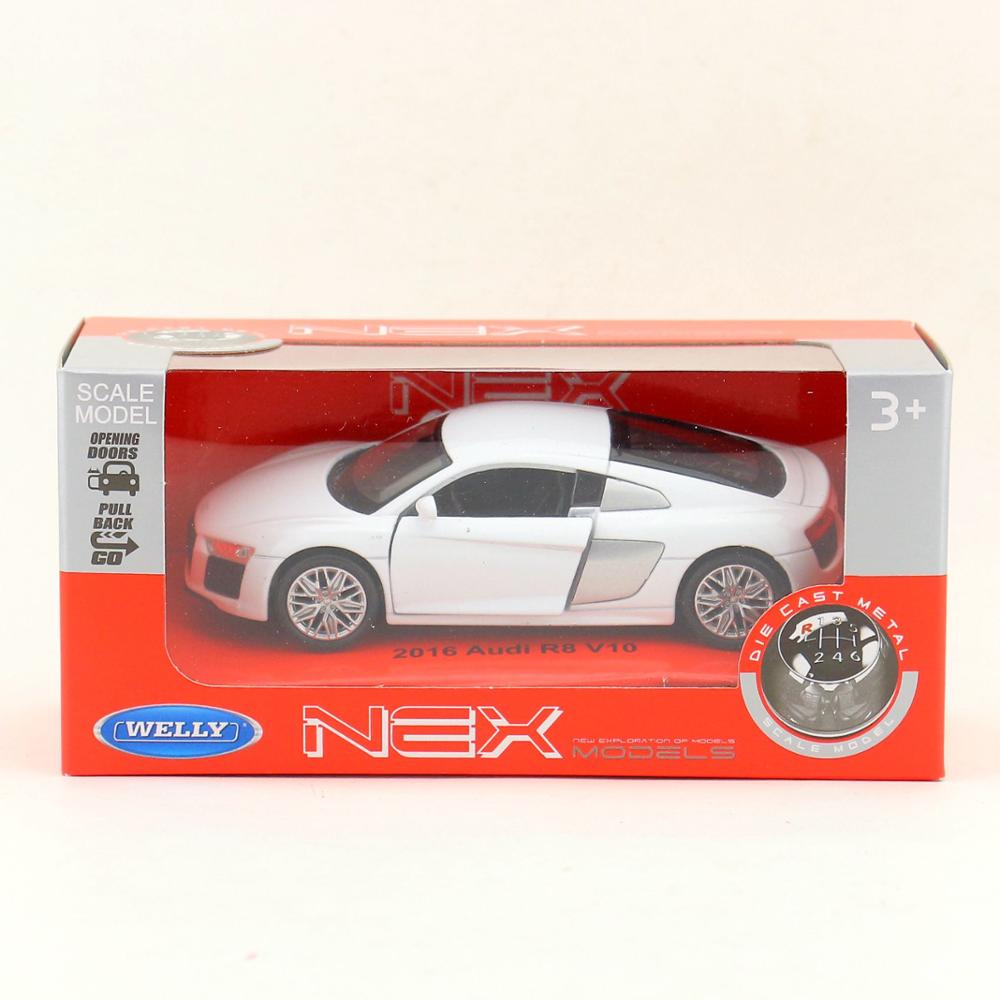 2019 Welly Toy Diecast Model 1 36 Scale Audi R8 V10 Super Pull Back