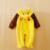 Bonito Outono Inverno Flanela Poliéster Romper Do Bebê Macacão de Manga Longa Com Capuz Infantil Macacão Estilo Animal Um Pedaço Para Toodler