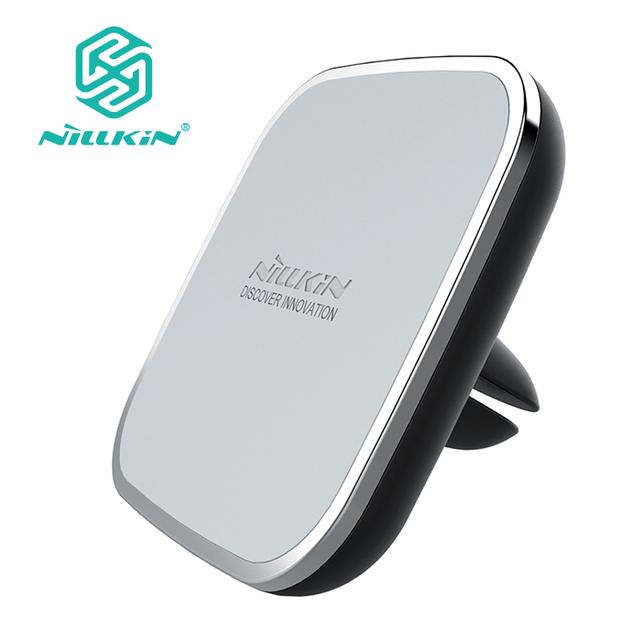 Original nillkin qi estándar inalámbrico cargador de coche magnético air vent mount pad para iphone 7 7 plus 6 samsung s7 edge s6 edge Note5
