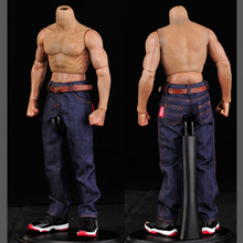 1:6 Scale Classic Denim Trousers Male Clothes Man Jeans Pants fit 12 Inches Muscular Men Body Action Figure Accessories 1 6 scale 12 inches female bodies figures belt bib pants denim jeans accessories