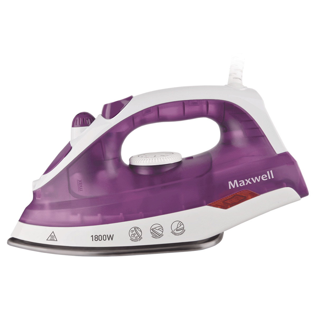 Steam iron MAXWELL MW-3042(VT) steam iron maxwell mw 3047 bn