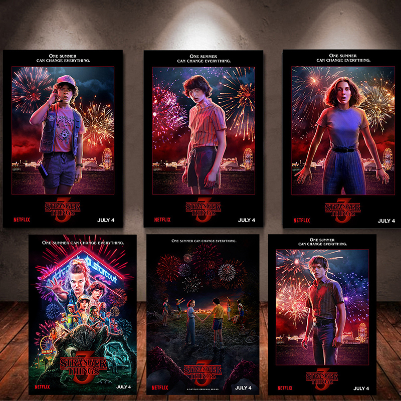 Stranger Things Season 3 Posters TV Movie Art Poster For Living Room Wall Bedroom Decors 40x60cm 30x40cm 2019 New